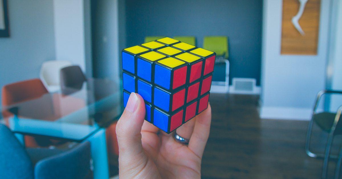 Image: Solved Rubix Cube.